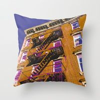 Throw Pillow featuring Walk Up by designed to a T
