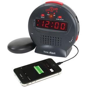 Sonic Alert Sonic Bomb Jr. Alarm Clock With Super Shaker