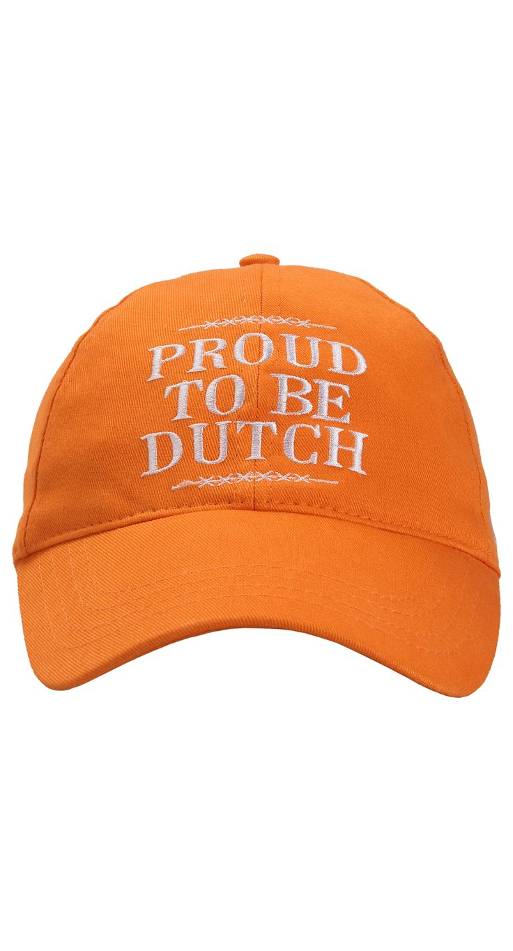 That's how you show you support the Dutch soccer team on their way to Brazil. Will fit perfectly with any casual or formal wear. KNVB 'PROUD TO BE DUTCH' CAP: http://www.vangils.eu/nl/knvb-collectie