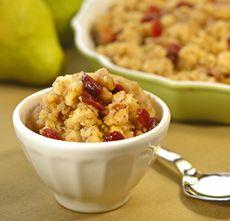 Pear and Cranberry Crisp An old-fashioned dessert—the cranberries ...