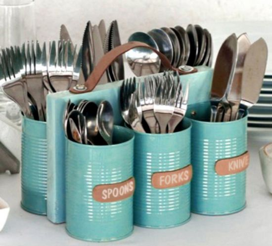 Tin Can Cutlery Caddy                                                                                                                                                                                 More
