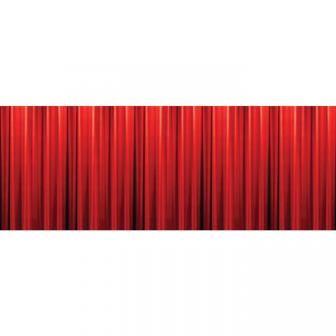 Wanddeko Roter Hollywood Vorhang 305 X 125 Cm