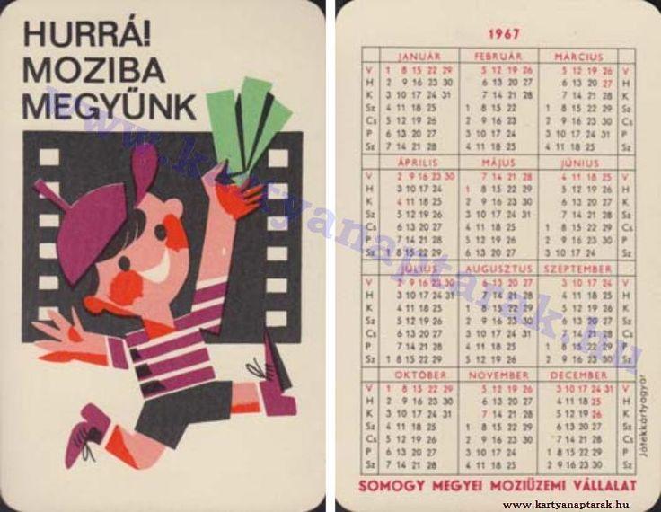 1967 - 1967_0113 - Régi magyar kártyanaptárak