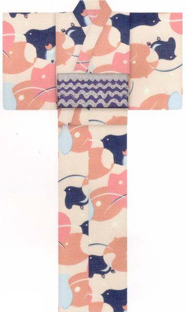 【2014年新作ブランド浴衣】tsumori chisato(ツモリチサト)ねこ千鳥(クリーム)の浴衣