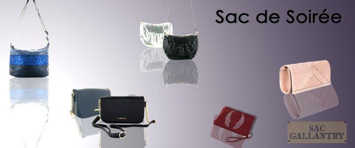 Découvrez la collection sac à main de soirée de la boutique sac Gallantry.com