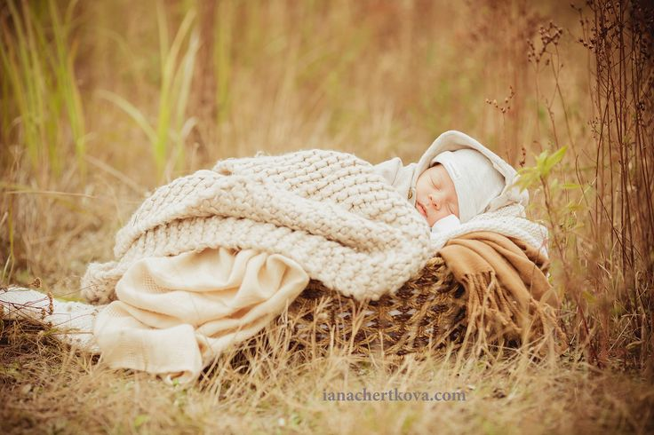 newborn photo autumn