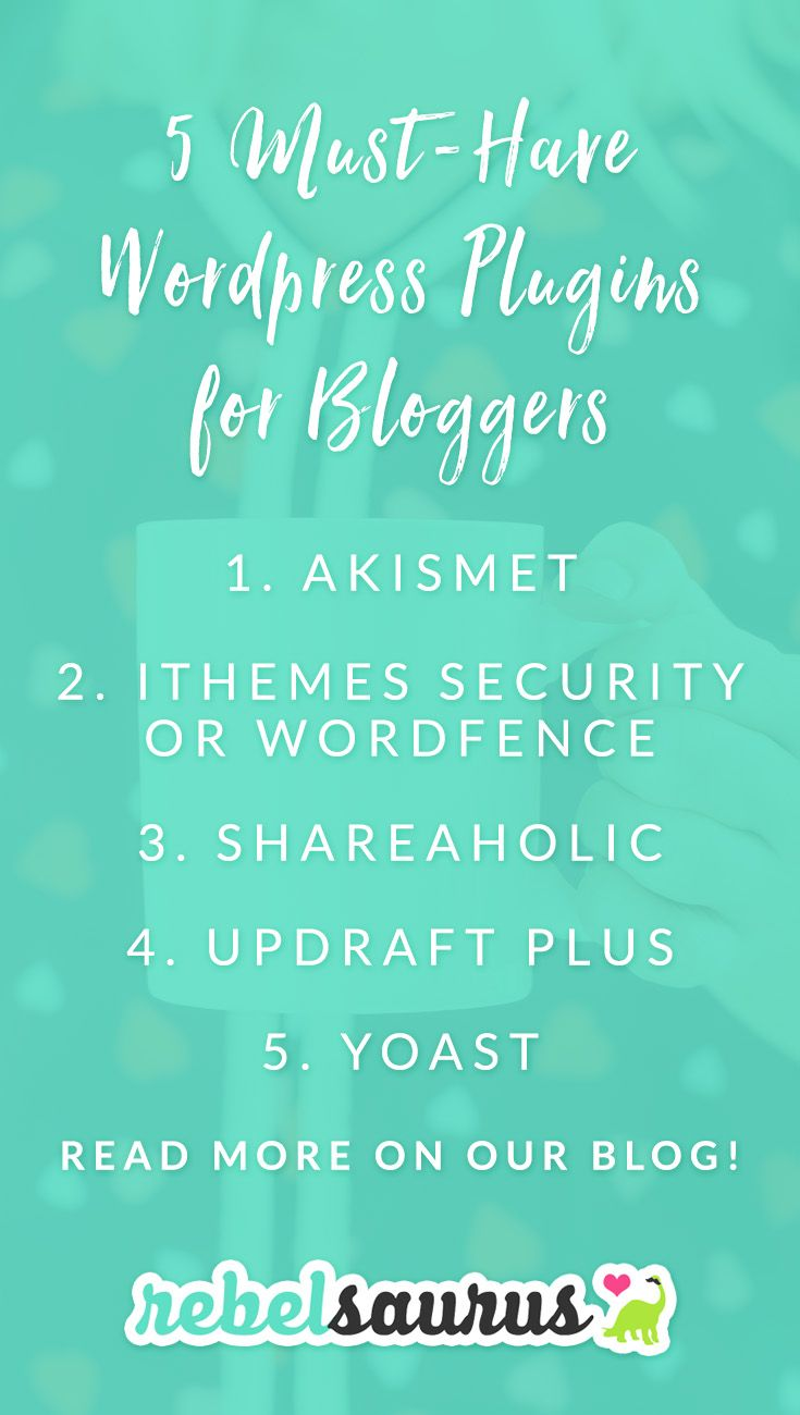 If you've recently started a Wordpress blog, you might be wondering what some good plugins are and what you should be installing as soon as you get started. Here are 5 must-have Wordpress plugins for bloggers that I install on all my sites because they're just THAT good. These are also all free for the basic versions.