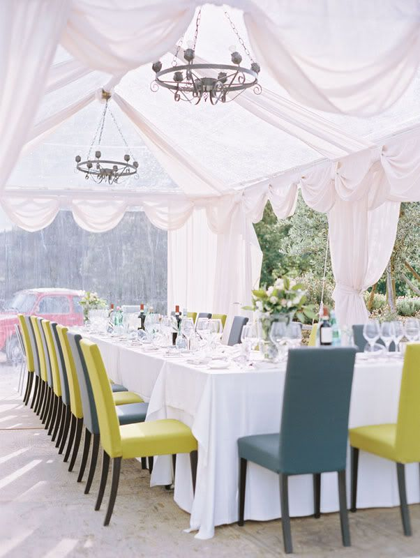 chartreuse and tealOutdoor Wedding, Wedding Tables, Sophisticated Brides, Wedding Receptions, Modern Wedding, Tents Wedding, Wedding Blog, Gardens Parties, Wedding Chairs