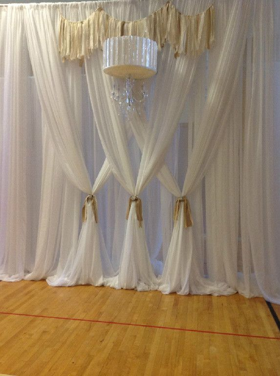 draped wall treatments pre wedding house decor