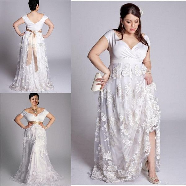 1000 ideas about plus size beach on pinterest plus size for Plus size lace wedding dresses cheap