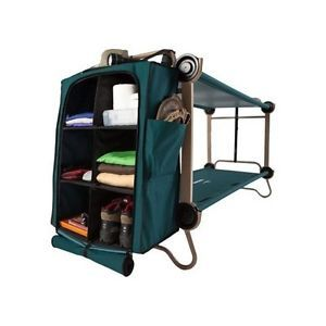 Bunk Bed With Leg Extensions And Cabinets Cots Portable