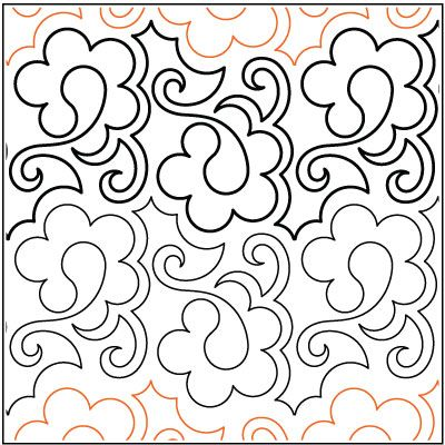 Paisley pantograph quilts motifs pinterest quilting patterns quilting and love for Free pantographs