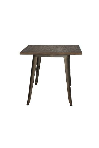 Powder coated steel finish, timber top. Available in rust with wood top. http://www.chaircrazy.co.za #Decor #Dining #Tables