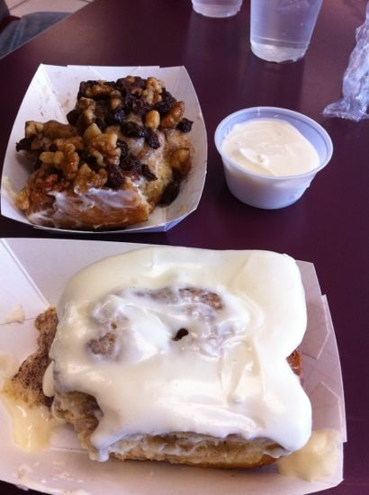 Old West Cinnamon Rolls, Pismo Beach, CA These are amazing - plain, no frosting.
