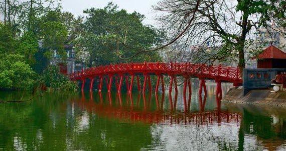 The Huc Bridge in Ha Noi