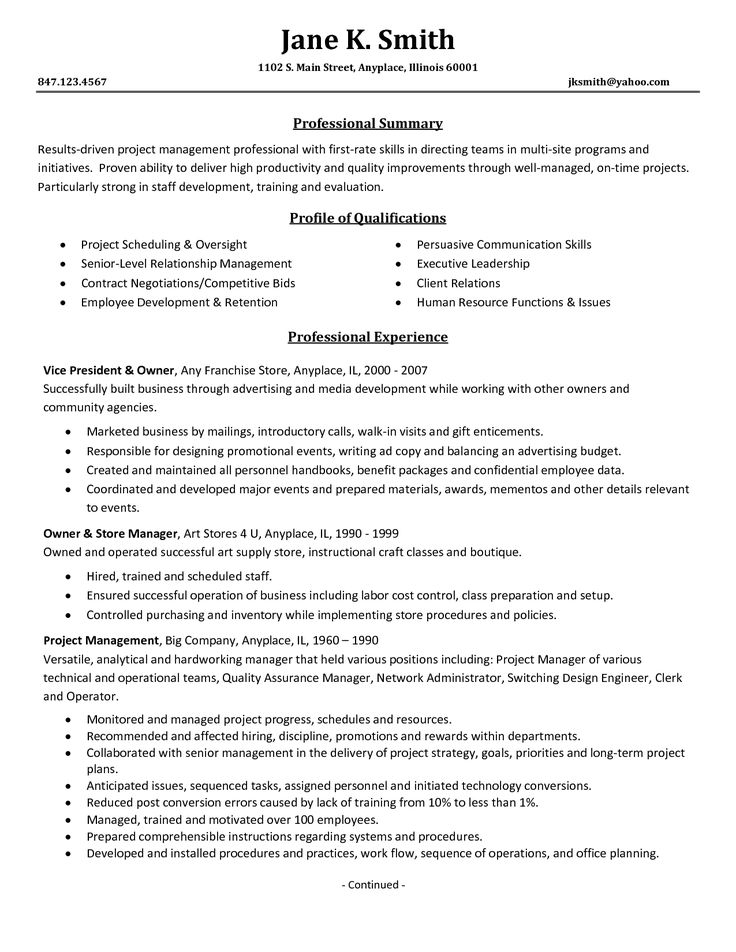 professional business resume template why this is an excellent - Professional Business Resume Template