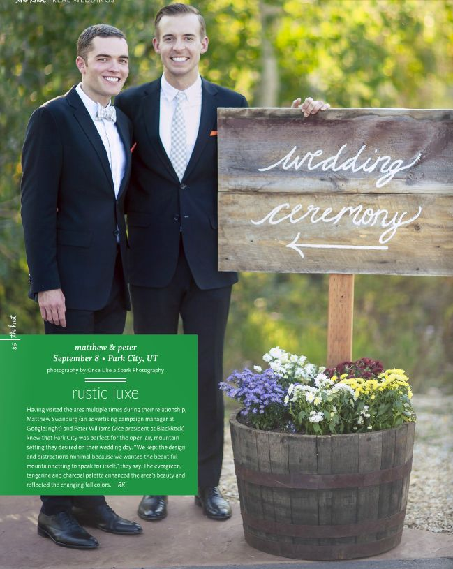 Gay Weddings From The Knot 2013