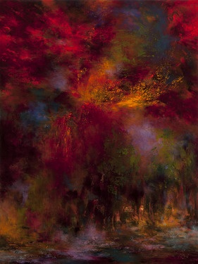 Passion Boulogne Forest 7016B acrilic painting by Tikka Ayasaki, France