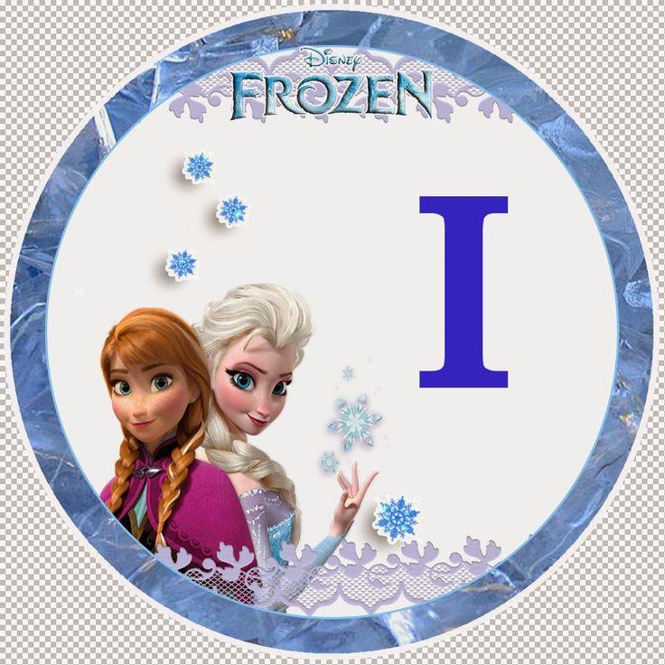 Dulce Alfabeto de Frozen.   Oh my Alfabetos!