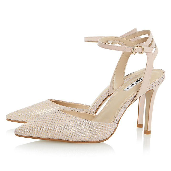 Buy Dune Chelsee Pointed Toe Two Part Court Shoes, Blush Reptile, 3 Online at johnlewis.com