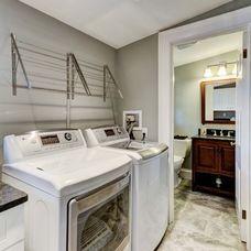 Craftsman Laundry Room by RI Kitchen & Bath ~ drying racks