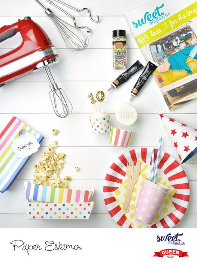 Win a Paper Eskimo Bake & Style Party Pack with a KitchenAid Mixer every week for 10 weeks!