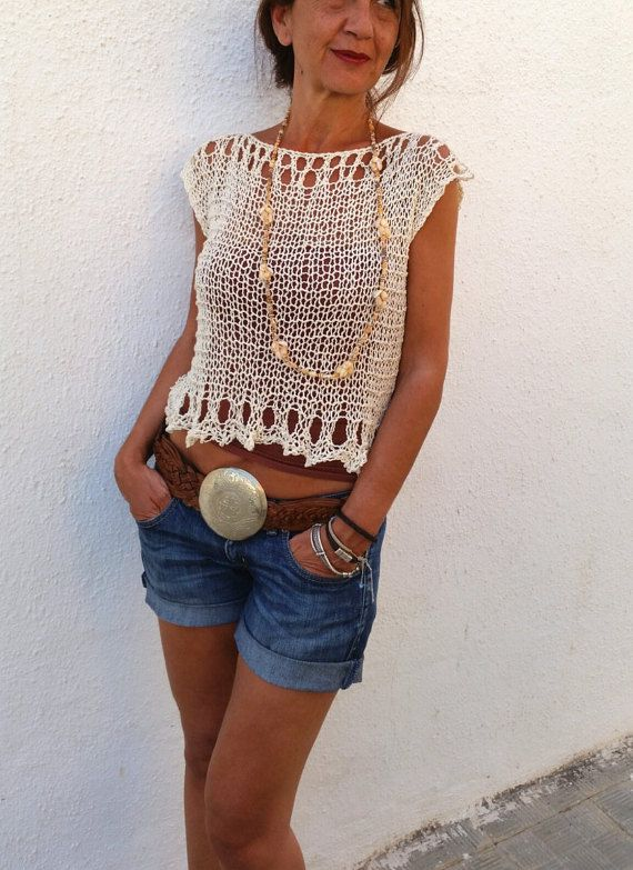 Cream knit cropped sweater. Absolutely soft. Love it!!! por EstherTg