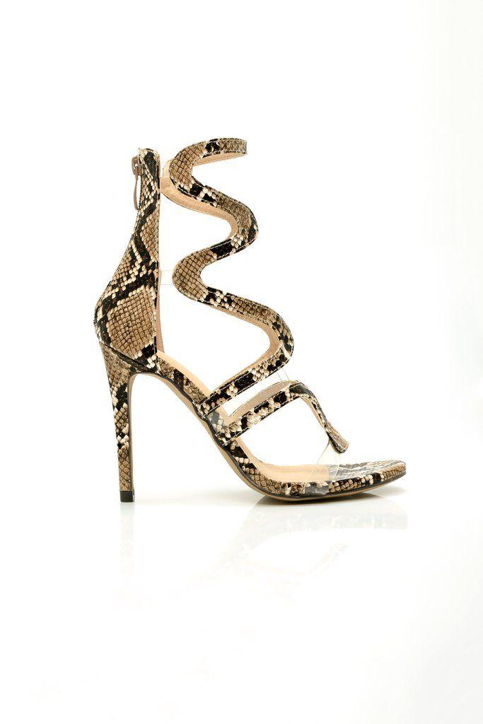 7f8abdc237c2a Susanna Swirl Heel - Brown Snake