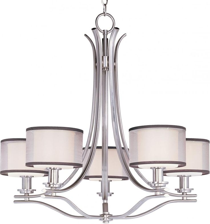 Maxim MX 23035 Contemporary / Modern 5 Light Up Lighting Chandelier From  The Orion Collection