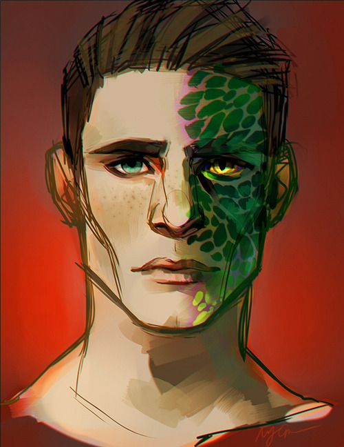 Colton Haynes - Teen Wolf How cool is this artwork ... Colton Haynes Eye Color