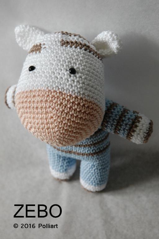 (4) Name: 'Crocheting : ZEBO The Zebra Amigurumi Pattern