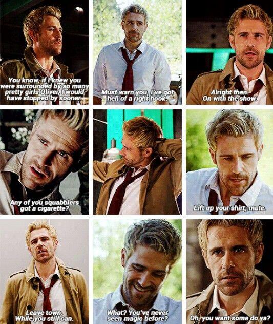 "John Constantine in #Arrow #4x05 ""Haunted"" #ConstantineOnArrow God I miss Matt Ryan as Constantine"