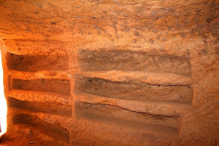 Inside one of the Tombs