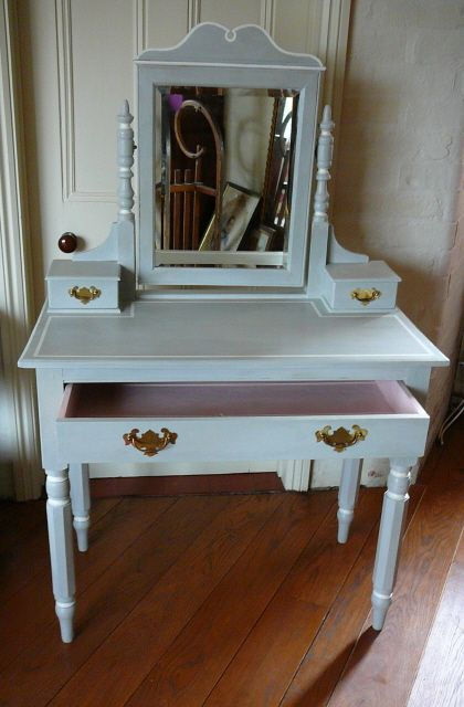 This Dressing Table Has Been Painted In Annie Sloan S