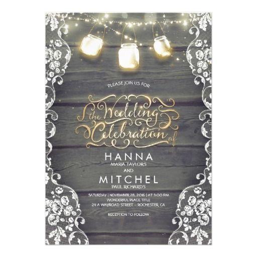 312 best images about mason jar wedding invitations on pinterest, Baby shower invitations