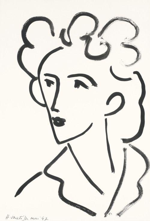 tête, marie josé (1947) - henri matisse.                                                                                                                                                                                 Mehr