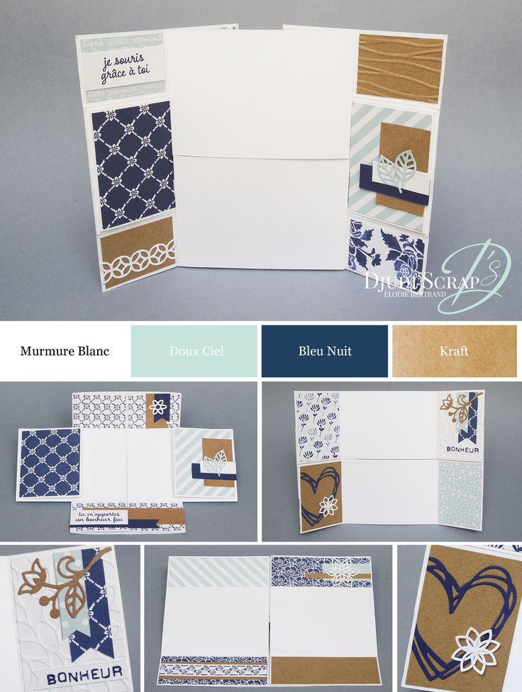 """Djudi'Scrap Stampin'Up! - Tutoriel Mini Album Sans Fin """"Papier Boutique Fleurie / Floral Boutique Designer Series Paper"""""""
