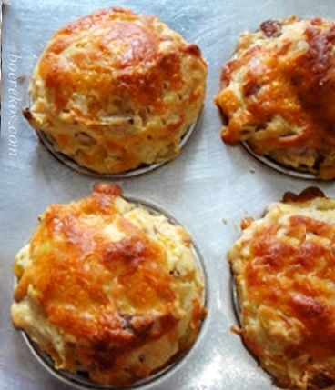 Bacon, kaas en mielie ontbyt muffins