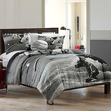 Jcpenny S Black Amp White Baseball Bedding Jw S Bedroom