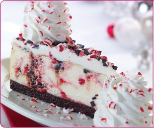 Copycat recipe for Cheesecake Factory's Peppermint Bark Cheesecake.