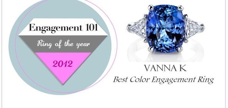 Award winning design 2012 ,   Best color engagement ring,    Engagement 101,    Ring of the year