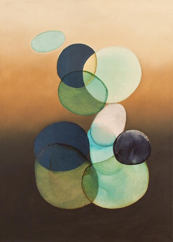2012-020 • pithari - pithari 2 - 100 x 70 cm - oil and lacquer on canvas - olaj, lakk, vászon - romvári márton contemporary art