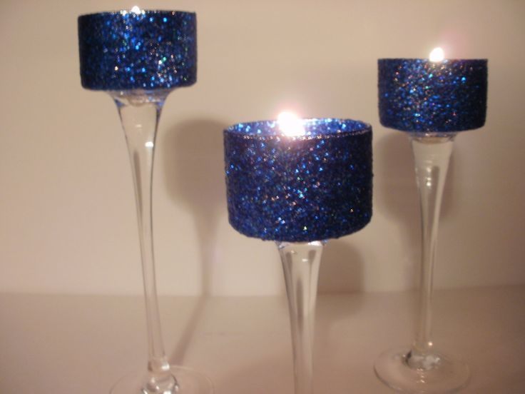 navy blue and coral wedding centerpieces | Wedding Centerpieces Navy Blue Simple Elegance Gel 3 Piece by Silk N ...