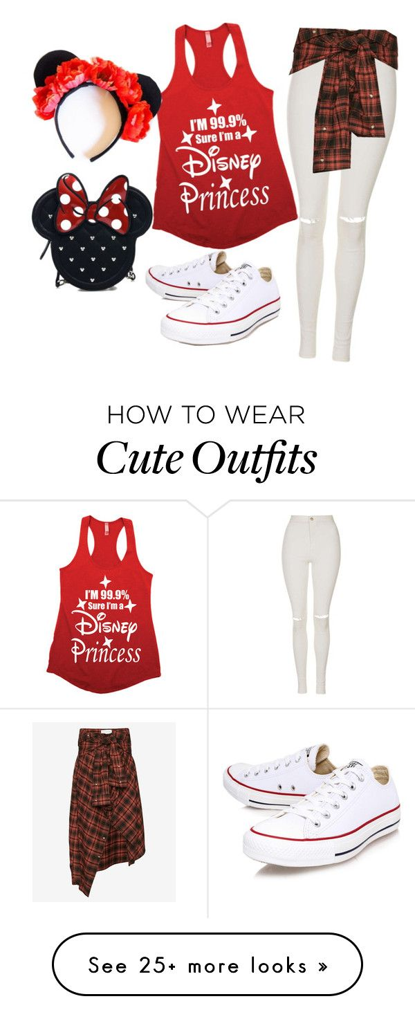 """""""Outfit for Disneyland"""" by hjkunza on Polyvore featuring moda, Topshop, Faith Connexion, Converse i Loungefly"""