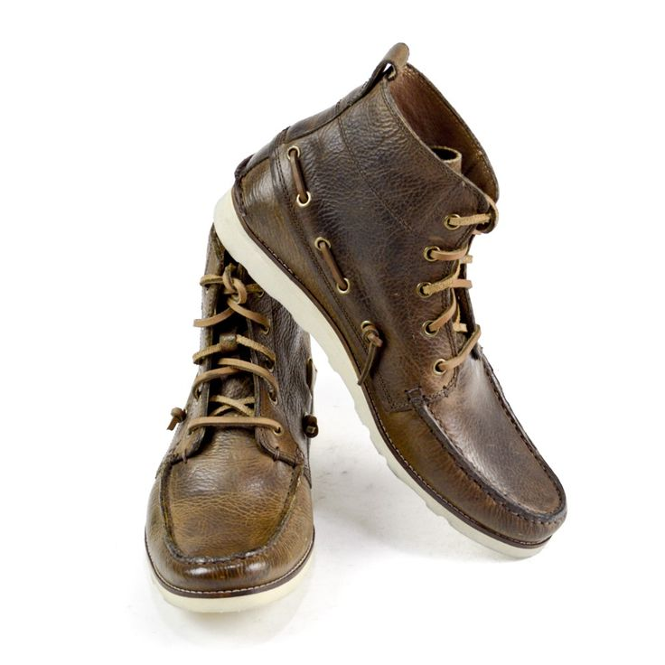 Men's JOHN VARVATOS Lugger Brown Leather Boat Boots  |  Go Shopping! http://www.frieschskys.com/leather/leather-footwear  |  #frieschskys #mensfashion #fashion #mensstyle #style #moda #menswear #dapper #stylish #MadeInItaly #Italy #couture #highfashion #designer #shopping