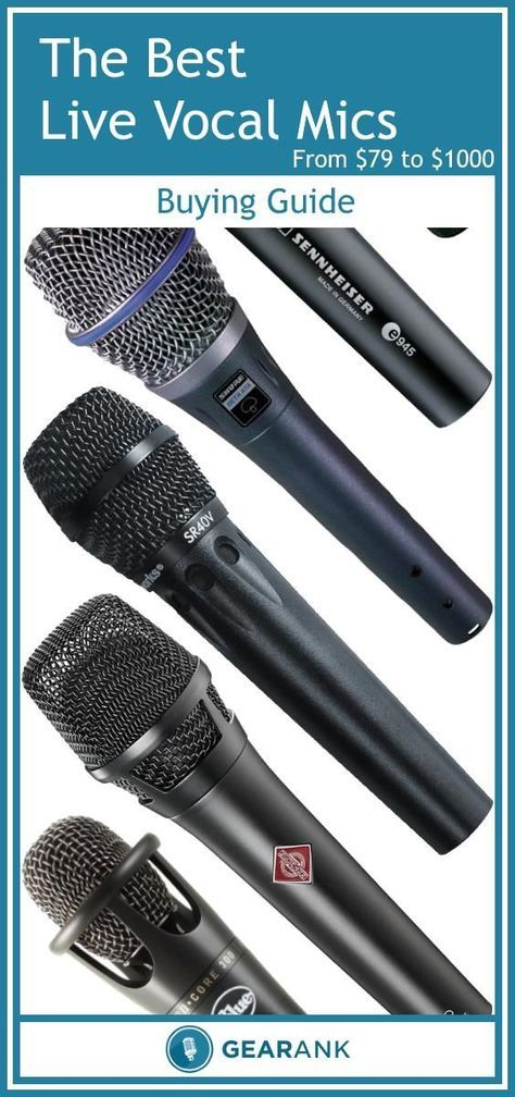 Detailed Guide to The Best Live Vocal Mics - $79 to $1000. Topics explained include Dynamic vs Condenser, Polar Patterns, Proximity Effect, Impedance, Max SPL and Phantom Power. It also provides a list of recommended microphones in 5 price brackets which have all received very high ratings from the musician and pro audio communities.