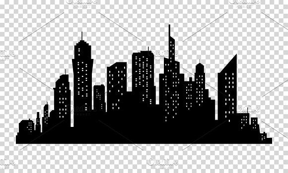 City Skyline In Grey Colors Buildings Silhouette Cityscape Big Streets Minimalistic Style Vector Illustration Cityscape Silhouette Building Silhouette City Skyline Silhouette