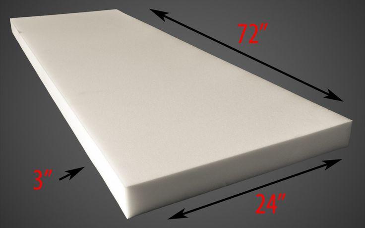 "Upholstery Foam 3"" Thick, 24"" Wide x 72"" Long Medium Density by fabulessfabrics on Etsy https://www.etsy.com/listing/154271906/upholstery-foam-3-thick-24-wide-x-72"