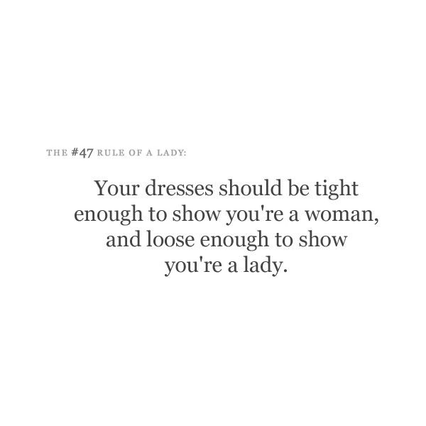 Best 25+ Lady rules ideas on Pinterest   Being a lady ...