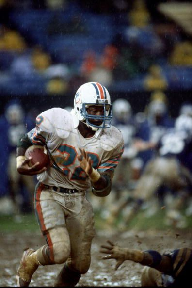 Running back Tony Nathan of the Miami Dolphins